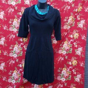 LIV BLACK SWEATER DRESS *441
